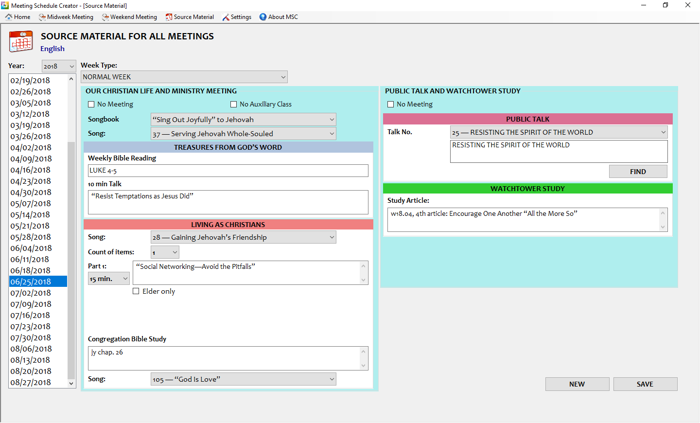 Downloads - Meeting Schedule Creator - ToolsLib